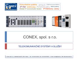 Prezentácia Conex, spol. s r.o.