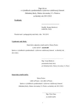 Základná škola Prešov, Važecká 11