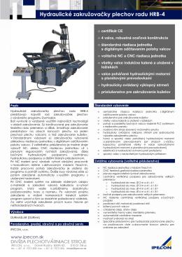 Hydraulické zakružovačky plechov radu HRB-4