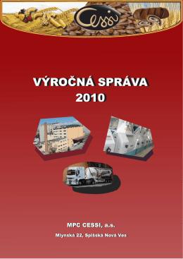 Výročná správa MPC CESSI 2010