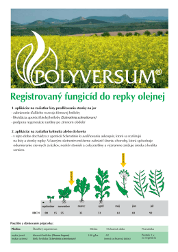 Registrovaný fungicíd do repky olejnej