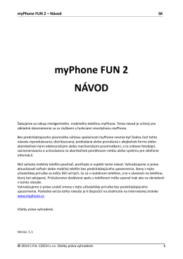 myPhone FUN 2 NÁVOD