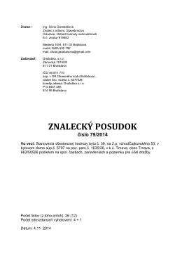 Znalecký posudok Čajkovského 53