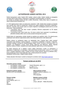 AUTOOPRAVÁR JUNIOR CASTROL 2014