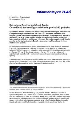 Kompletný rad Scania Euro 6