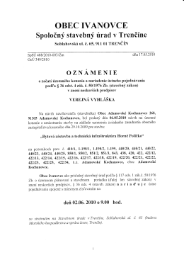 OBEC IVAI\OVCE - Adamovské Kochanovce