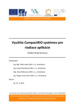 Využitie CompactRIO systémov pre riadiace aplikácie