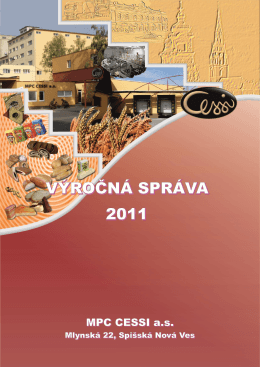 Výročná správa MPC CESSI 2011
