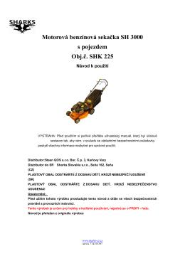uzivatelský manual sekacka SH 3000 new Komplet - Nářadí