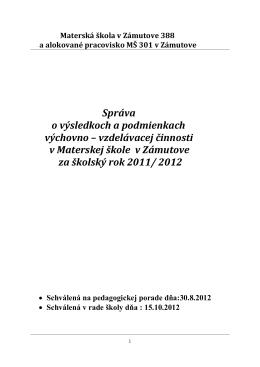Správa o VVČ 2011- 2012 (PDF)