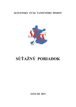 Č L Á NOK 2 - Slovenský Zväz Tanečného Športu