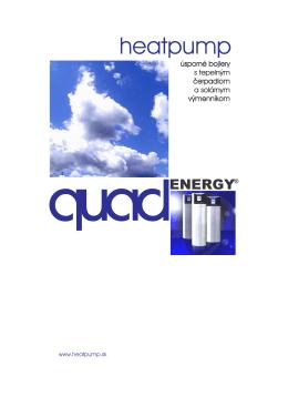 Návod quadENERGY projekčný montážny a užívatelský