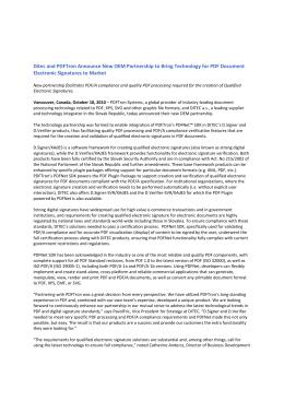 Spoločnosti Ditec a PDFTron ohlasujú vytvorenie OEM