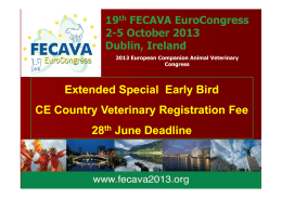 Extended Special Early Bird CE Country Veterinary