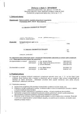 Zmluva o dielo e.2014106101