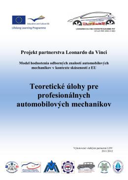 Teoretické úlohy pre profesionálnych automobilových