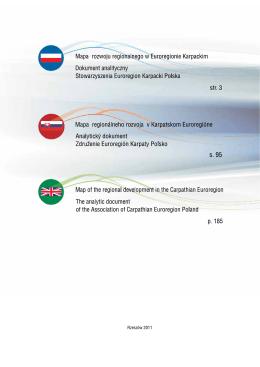 Mapa rozwoju regionalnego w Euroregionie Karpackim