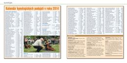 Kalendár kynologických podujatí v roku 2014