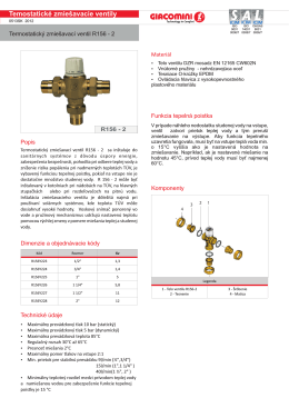 Temostatické zmiešavacie ventily