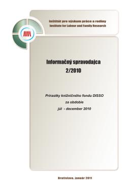 Informačný spravodajca 2/2010