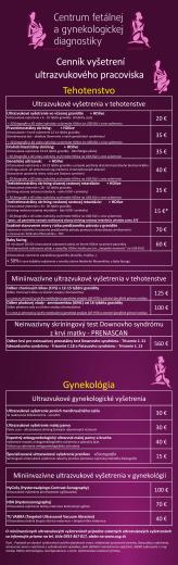 Cenník - USG.sk