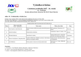 Výsledková listina - Krajské centrum voľného času v Trenčíne