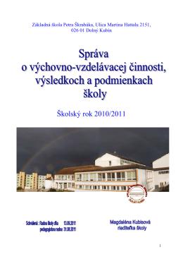hodnotiaca sprava20102011 - ZŠ Petra Škrabáka Dolný Kubín