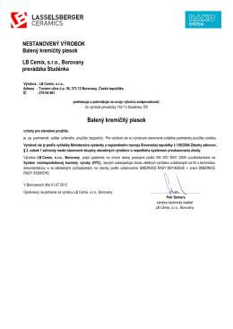 Balený kremičitý piesok (pdf, 106 kB)