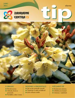 Časopis TIP JARO 2014 - Zahradní centra CS, obchodní družstvo