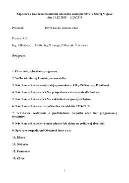 Zapisnica OZ 11.12.2013