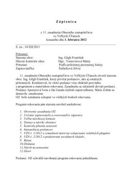 Zápisnica z 11. zasadnutia OZ
