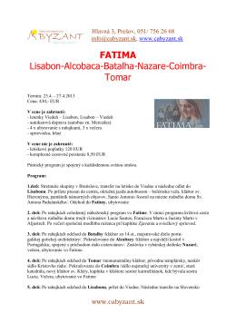 Fatima letecky