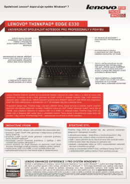 LENOVO® THINKPAD® EDGE E330