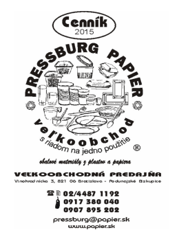 Cenník v PDF - Pressburg papier