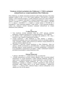 VZN č. 5/2014 o pripojení nehnuteľnosti na verejnú