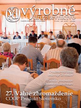 27. Valné zhromaždenie - coop produkt slovensko