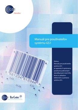 Manuál pre používateľov systému GS1, 5. vydanie