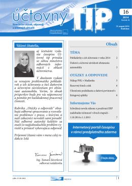 Vážení čitatelia, Internetový portál časopisu v rámci