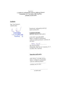 pdf - Gymnázium , Ul. 17. novembra 1180, Topoľčany