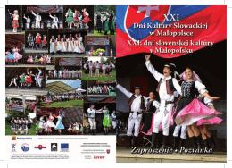 XXI Dni Kultury Słowackiej w Małopolsce