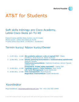 AT&T for Students - cnl cisco academy