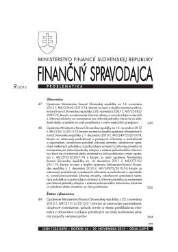 Finančný spravodajca 9/2012