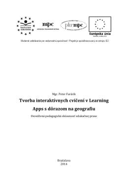 Tvorba interaktívnych cvičení v Learning Apps s dôrazom na geografiu