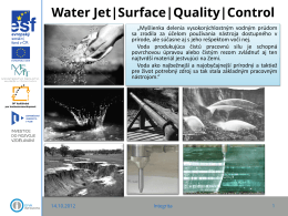 Water Jet|Surface|Quality|Control