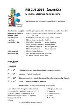 Program - Záchranná zdravotná služba Bratislava