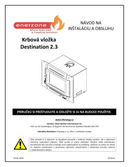 MANUÁL ENERZONE Destination 2.3 Insert