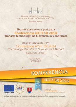 Zborník abstraktov - Transfer technológií