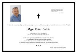 Mgr. Peter Paluš