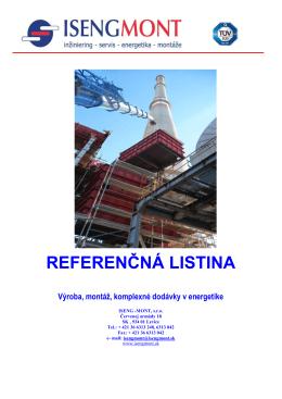 REFERENČNÁ LISTINA - Iseng