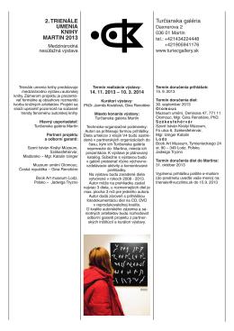 Prihláška / Entry Form (PDF)
